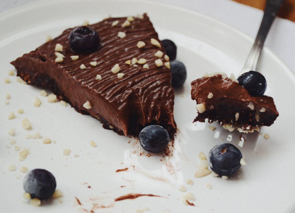 парче шоколадов чийзкейк