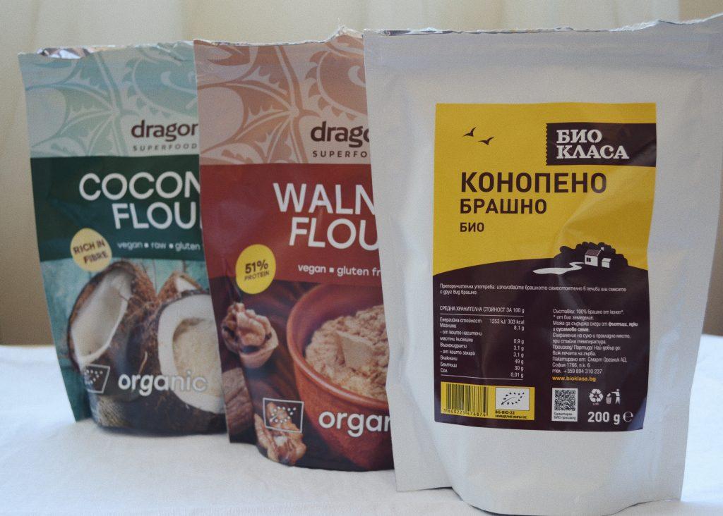 пликове с орехово кокосово и конопено брашно